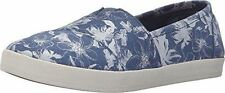 Toms Size 7 Blue Floral Loafers New Womens Shoes $98
