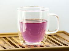 200ml Heat Resistant Clear Glass Herbal Tea Coffee Cup Unbent Beverage Mug