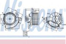 Nissens Interior Cabin Blower Fan 87136 Replaces 8EW351149391,DEA09200,DEA09203