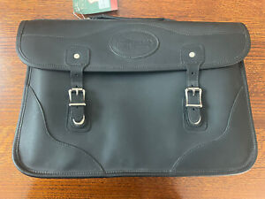 NWT JW Hulme Black Leather Document Briefcase Bag
