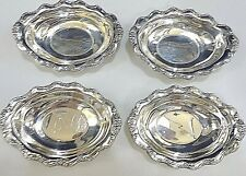 Set of 4 TARA REED & BARTON AMERICAN STERLING SILVER REPOUSSE NUT DISHES NO MONO