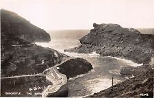 BOSCASTLE CORNWALL UK~THE HARBOUR~PHOTOCHROM REAL PHOTO POSTCARD 1920s