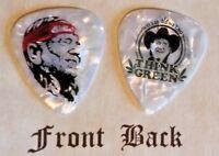 WILLIE NELSON band Signature Logo guitar pick-(Q)