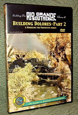 "20025 MODEL RAILROAD VIDEO DVD ""BUILDING THE RGS #4"" DOLORES"