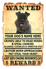 Kerry Blue Terrier Wanted Poster Flex Fridge Magnet Personalized Name