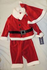 New Baby Santa Claus First Christmas Outfit Hat Size 3-6 Months Costume Xmas