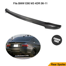 For 06-11 BMW E90 M3 4DR CARBON FIBER V TYPE REAR TRUNK SPOILER WING M Sport