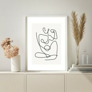Abstract Figure Line Drawing Art Prints Woman Home Decor Modern Female Body