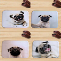 Doormat Indoor Print Cute Pug Dog Door Mat Flannel Floor Mat Rugs Tapis Bedroom