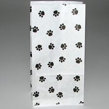 Paw Print Kraft Paper Bag Gusseted Pet Dog Puppy Cat treat bags sacks(8 20 90)