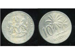 NIGERIA 10 kobo 1976