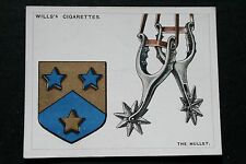 The Mullet  Riding Spur    Heraldic Sign  Vintage Colour Card  VGC