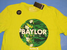 NWT Hurley BAYLOR BEARS T-Shirt Mens Size L Large Lime Green Premium Fit NEW