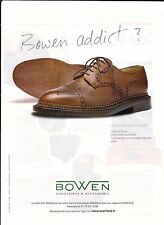 BOWEN Pub de Magazine Magazine advertisement.2012. paper