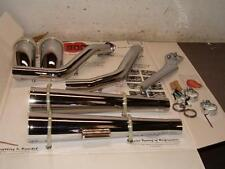 """Lot of 5 Staggered Turn Out """"Hooker"""" Exhaust System for '86-2000 FXST Softails"""