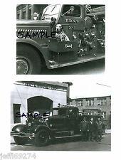 FDNY FIRE TRUCKS ENGINE 20 w DOG & ENGINE 156 1930s-1940s 2 PHOTOS NYC Free Ship
