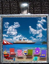 Disney Cruise Line Mickey Goofy Wonder Dream Magic Fantasy Pendant Necklace