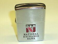"Vintage ZIPPO Lighter ""National Exchange Bank"" - UNUSED-Never Struck -1967 - RARE"