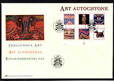 (Ref-6291) United Nations 2003 Indigenous Art - M/Sheet on a FDC (Geneva Office)