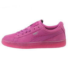 Puma Girls Suede Classic Iced Jr Big Kids 357586-06 Viola Pink Shoes Size 7