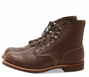 RED WING SHOES 8111 IRON RANGER MEN'S 6-INCH BOOT IN AMBER HARNESS LEATHER