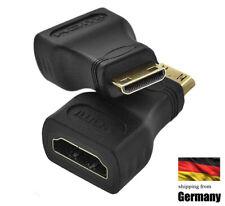 Adapter HDMI A Buchse auf zu to HDMI mini C Stecker Female to Male F-M