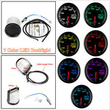 Auto Car 52mm Black 7 Colors LED Water Coolant Temperature Temp Gauge Meter - °F
