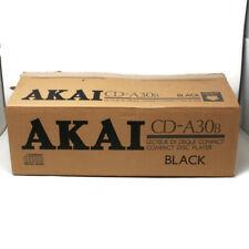 🔴 Vintage AKAI Compact Disc Player CD Deck Hifi CD-A30 Black Made in Japan