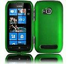 For Nokia Lumia 710 Rubberized HARD Case Snap on Phone Cover Dark Green