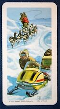 Arctic Transport  Dog Sled and Snow Machine   Superb Illustrated Vintage Card