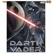 """DARTH VADER & DEATH STAR STAR WARS 28""""X40"""" BANNER FLAG BRAND NEW WINCRAFT"""