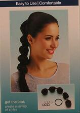 Conair Bubble Ponytailer Hair Tie/Design 8 Pieces Easy To Use #55712 NEW