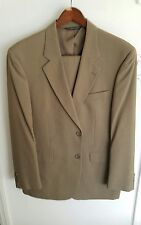 Brown Mens Suite And Pants Paul dione  100% wool size 44 waist is 38.