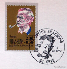 GEORGES BRASSENS  FRANCE Yt 2654 OBLITERATION 1er JOUR NOTICE PHILATELIQUE