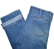 Wrangler Vintage Jeans Mens 36 x 29 Blue Naturally Distressed Made in USA