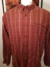 North Face Men's Plaid Button-up Long Sleeve Shirt Zipper Pocket XL Modal