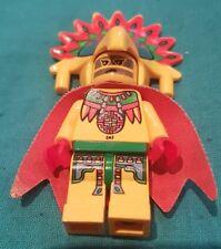 RARE AUTHENTIQUE LEGO Aventurers Aztèque Achu Figurine Roi Guerrier Set 512