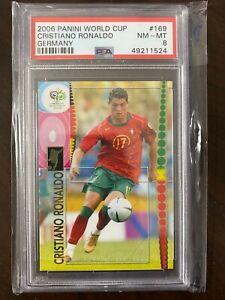 2006 Panini Germany World Cup RC Rookie Portugal Cristiano Ronaldo PSA 8