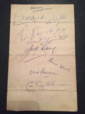 Arsenal Signed Menu 14/04/1956 By 9 Arsenal Players