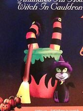 NEW Halloween LED Animated Witch In Cauldron Airblown/Inflatable Decor