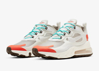 Nike Air Max 270 React AO4971 200 Light Beige Chalk Platinum Tint Mens Shoes