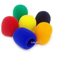 6 - Microphone Foam Ball Mic Windscreens Green, blue, red, yellow, orange, Black