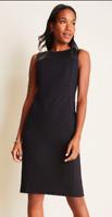 $129 ANN TAYLOR Sheath Career/Professional/Office Black Dress Petite Size12-NWT