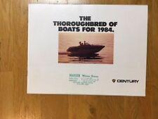 1984 Century Boat Brochure Grande Meridien Fiero Volante Riviera Bronco Arabian