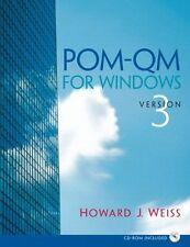 POM - QM v 3 for Windows Manual (3rd Edition)