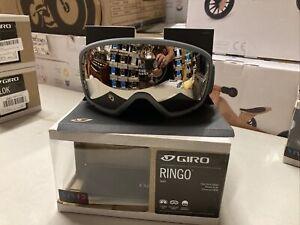 ! Giro Ringo Adult Snow Ski Snowboarding Grey Goggles Vivid Onyx Lens