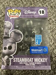 Funko Pop! Art Series Walt Disney's Steamboat Mickey #18 Walmart Exclusive 2021