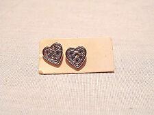 Rhinestone Hearts Earrings - Pierced