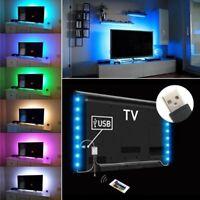 KIT TV STRISCIA STRIP LED USB RGB PER RETROILLUMINAZIONE TV 2x50cm 1MT SMD-5050