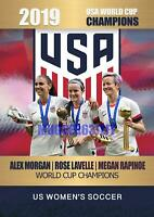 ALEX MORGAN-ROSE LAVELLE-MEGAN RAPINOE 2019 USA WORLD CUP CHAMPION GOLD PLATIUM